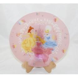 Assiette en verre Princesses DISNEY Cendrillon Aurore Belle 20 cm