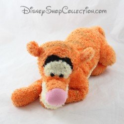 Peluche Tigrou DISNEY STORE allongé orange poils longs 35 cm