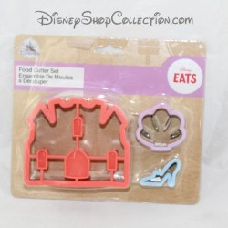 DISNEY 3 cutting moulds take away castle, shoe and shell parts