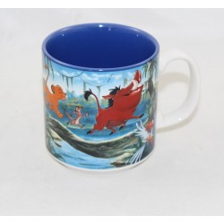 Mug Le Roi lion DISNEY STORE mug scène Simba bleu 10 cm