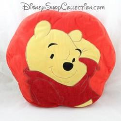 Coussin Winnie l'ourson DISNEYLAND PARIS Lovable rouge jaune Disney 35 cm