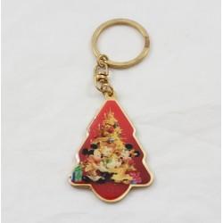 Porte clés métal sapin DISNEYLAND RESORT PARIS Noël Mickey Minnie