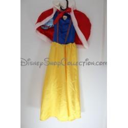 Snow White disfraz DISNEYLAND PARIS vestido amarillo y azul rojo capa Disney 6 años