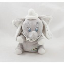 Cachorro de elefante Dumbo DISNEY NICOTOY gris blanco sentado costuras orejas 18 cm