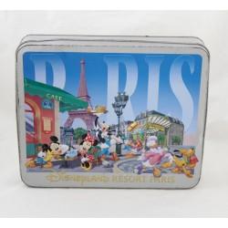 Disneyland PARIS Mickey Minnie Dingo Donald cookie box 26 cm iron box