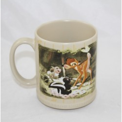 Mug Bambi DISNEY STORE Classic Animation beige Pan pan Fleur Bambi rare