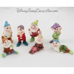 Conjunto de figuras de cerámica Enanas DISNEY Blancanieves y los 7 enanos