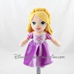 Poupée peluche princesse NICOTOY Disney Raiponce robe violette 22 cm
