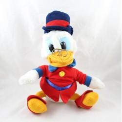 Peluche Picsou DISNEY oncle de Donald vinatge tenue rouge 32 cm assis