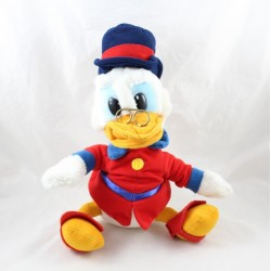 Peluche Picsou DISNEY uncle of Donald vinatge red outfit 32 cm seated