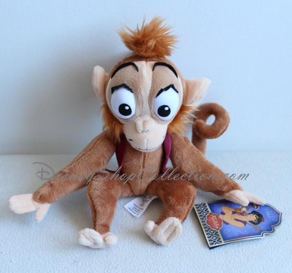 Peluche Abu Singe Disney Store Aladdin 30 Cm Gilet Bordeau Disney