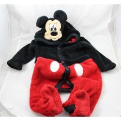 Mickey DISNEYLAND PARIS black red suit on-pyjama 12 months