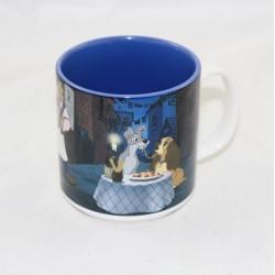 Mug Beauty y la escena de la tienda de disney de vagabundo de la película de 10 cm de taza