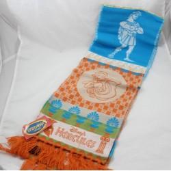 Echarpe hiver Hercule DISNEY acrylique made in France orange bleu