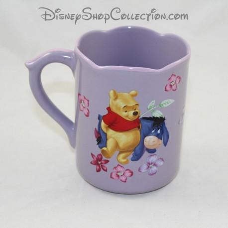 Mug Winnie the Pooh DISNEY STORE Bourriquet and Winnie purple flower cup 11 cm