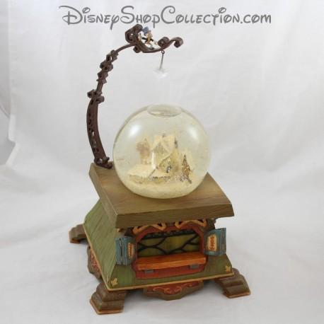 Snowglobe Pinocchio DISNEY Jimini Cricket village of Gepetto 30 cm