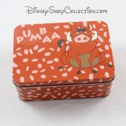 Boîte en fer Pumbaa DISNEY Le Roi Lion phacochère Pumba marron 14 cm