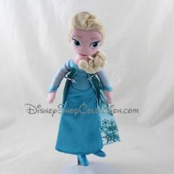 Poupée peluche Elsa DISNEY NICOTOY La Reine des Neiges Frozen bleu 28 cm
