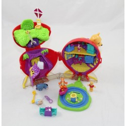 Polly Pocket Winnie the Red Balloon DISNEY Pooh 5 characters