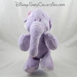 Peluche éléphant Lumpy DISNEY NICOTOY vichy satin violet 30 cm