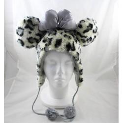Minnie DISNEYLAND PARIS hat-up leopard-grey knot eam