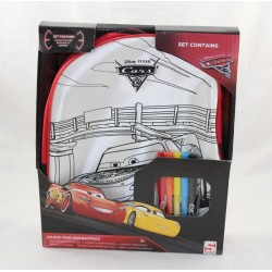 Coches DISNEY SAMBRO Cars 3 mochila para colorear con fieltros