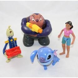 Lot de 4 figurines Lilo & Stitch DISNEY Mcdo Stitch Nani Jumba et Pleakley