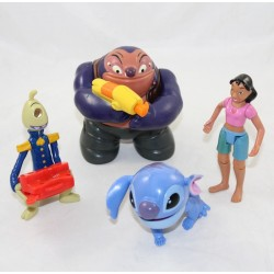 Lote de 4 figuras de Lilo - Stitch DISNEY Mcdo Stitch Nani Jumba y Pleakley