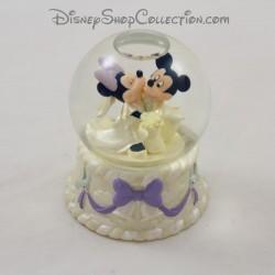 Snow globe Mickey Minnie DISNEY STORE Mariage