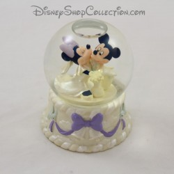 Snow globe Mickey Minnie DISNEY STORE Wedding