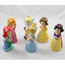 Princesa DISNEY baño ingtoring lote de 6 figuras Ariel Blancanieves hada Tinker Bell