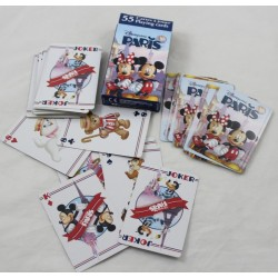 Jugando a las cartas DISNEYLAND PARIS Mickey Minnie Eiffel Tower