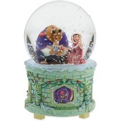 Globo de nieve La bella y la bestia DISNEY STORE musical y brillante la bella y la bestia