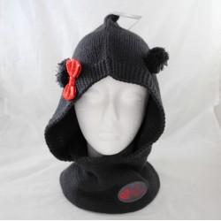 Minnie DISNEYLAND PARIS neck cap black wool bow ears