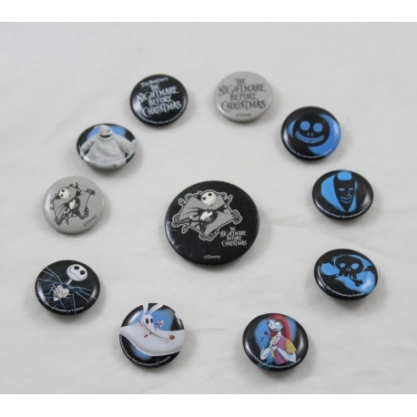 Lot of 11 Jack Skellington DISNEY Badges The Strange Christmas of Mr Jack