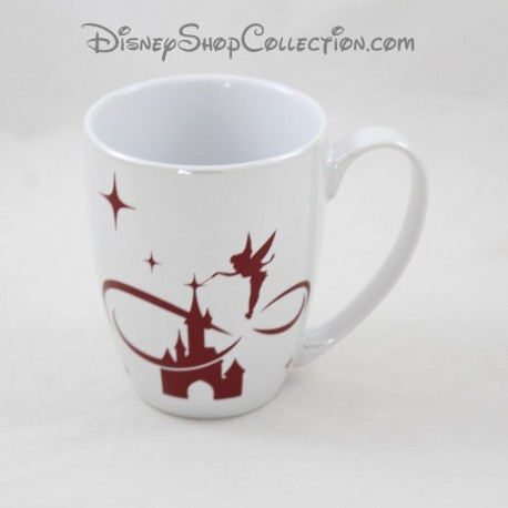 Mug Pass Annual DISNEYLAND PARIS Chateau Tinker Bell ceramic cup Disney 10 cm
