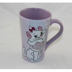 Top cat mug Marie DISNEY STORE Aristochats mauve sequined rhinestones Christmas 13 cm