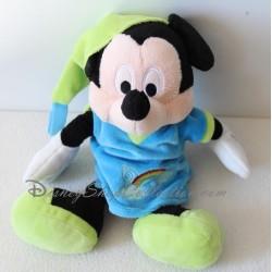 Peluche Mickey DISNEY chemise de nuit arc en ciel Nicotoy 27 cm
