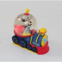 Mini snow globe Mickey DISNEYLAND PARIS train conducteur boule à neige 7 cm