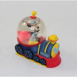 Mini snow globe Mickey DISNEYLAND PARIS train driver snowball 7 cm