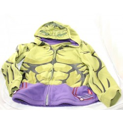 Child jacket Hulk DISNEYLAND PARIS Avengers green hood 8 years old