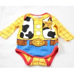 Body shérif Woody DISNEY BABY Toy Story garçon jaune marron 3-6 mois