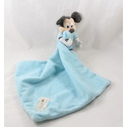 Doudou mouchoir Mickey DISNEY STORE ours bleu blanc sapin Disney Baby 44 cm