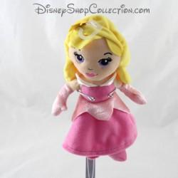 Aurora disney NICOTOY muñeco de felpa La hermosa y madera durmiendo vestido rosa 23 cm
