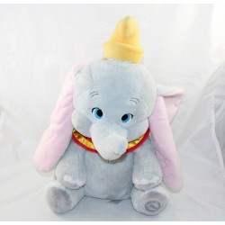 Peluche Dumbo DISNEY STORE éléphant col rouge écusson 38 cm