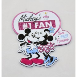 Mickey Minnie DISNEYLAND PARIS Corazón de fans de Mickey Disney 8 cm