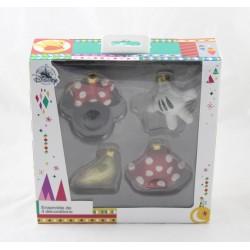 Conjunto de 4 decoraciones de Navidad Minnie DISNEY STORE falda de adorno de mano ...