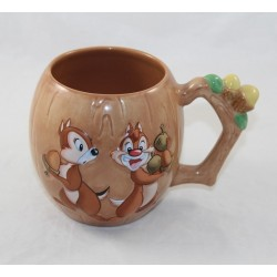 Mug relief Tic and Tac DISNEYLAND RESORT PARIS hazelnut wood effect 17 cm