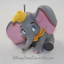 Figurine de collection éléphant DEMONS & MERVEILLES Dumbo statuette en résine gris jaune 13 cm