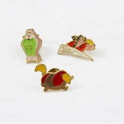 Lot of 3 pin's Beauty and the Beast DISNEY Gaston Sultan the wardrobe